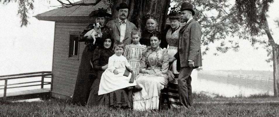 Mengunjungi keluarga di Amerika