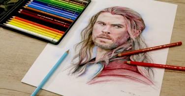 Thor dengan Polychromos