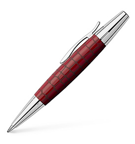 Ballpoint pen e-motion resin Croco hibiscus, red