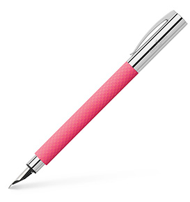 Ambition OpArt Pink Sunset fountain pen, M, pink
