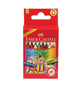 Wax Crayons Regular 16 pcs