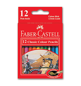 Classic colour pencils 12 S