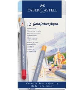 Watercolour pencils Goldfaber Aqua tin of 12