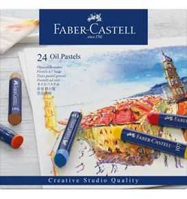 Oil pastels cardboard box of 24