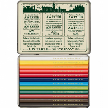 Polychromos colour pencil, 111th anniversary, tin of 12
