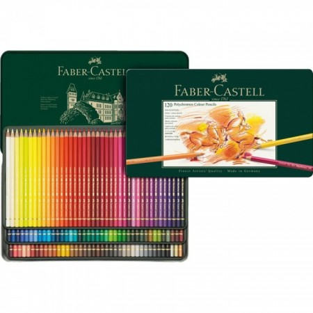 Colour Pencil Polychromos tin of 120