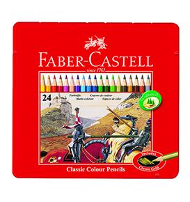Colour Pencils in Tin Case 24 L