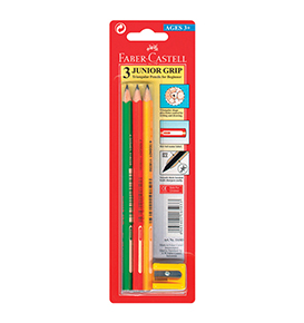 Junior Grip Black Pencil pack of 3