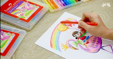 Cara mewarnai dengan Twist Crayon