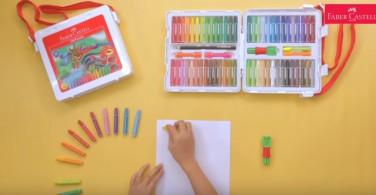 Cara mewarnai teknik Sgrafitto dengan Hexagonal Oil Pastel