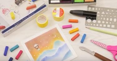 Soft Pastel Art - Stencil Technique