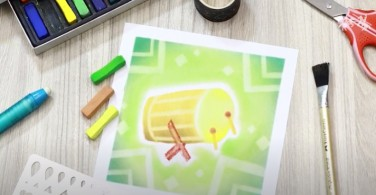 Cara  Menggambar Bedug dengan Soft Pastel Art