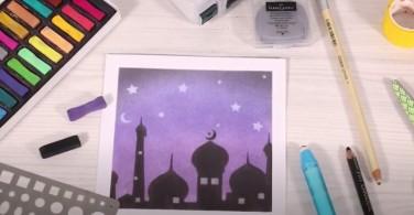 Cara  Menggambar Masjid dengan Soft Pastel Art
