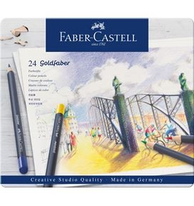 Colour pencil Goldfaber tin of 24
