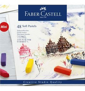 Soft pastels Mini cardboard box of 48