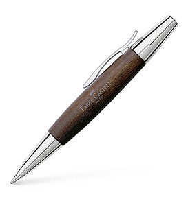 E-motion twist ballpoint Pearwood, dark brown