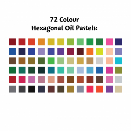 Hexagonal Oil Pastel 72 Pcs